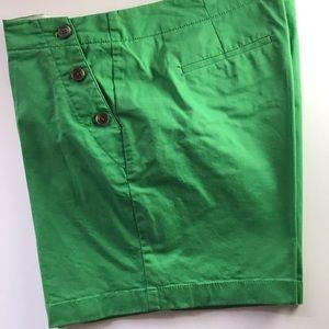 J Crew Green Shorts